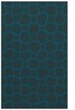 rug #400409 |  blue circles rug