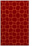 rug #400517 |  red-orange circles rug