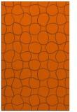 rug #400593 |  red-orange circles rug
