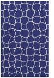 rug #400609 |  blue circles rug
