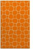 rug #400645 |  orange circles rug