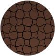 rug #400697 | round brown check rug