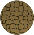 rug #400701 | round brown check rug