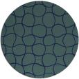 rug #400713 | round blue check rug