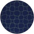 rug #400714   round check rug