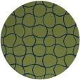 rug #400717 | round blue check rug