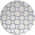 rug #400721 | round blue check rug