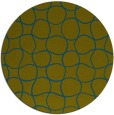 rug #400741 | round blue-green check rug