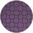 rug #400777 | round purple check rug
