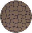 rug #400789   round beige check rug
