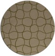rug #400801 | round brown check rug