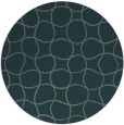 rug #400809 | round green check rug