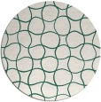rug #400813 | round green check rug