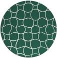 rug #400814   round check rug
