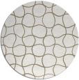 rug #400821 | round white check rug