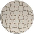 rug #400833 | round beige check rug