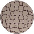 rug #400842   round check rug