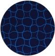 rug #400849 | round blue check rug