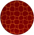 rug #400869 | round red-orange check rug
