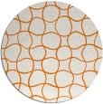 rug #400873 | round orange popular rug