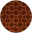 rug #400881 | round red-orange check rug