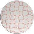 rug #400901 | round white check rug