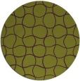 rug #400909 | round green check rug