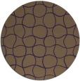 rug #400913 | round purple check rug