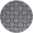 rug #400917 | round purple check rug