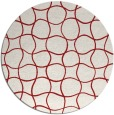 rug #400929 | round red check rug