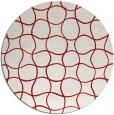 rug #400929 | round red circles rug
