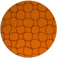 rug #400937 | round red-orange check rug