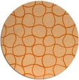 rug #400941 | round red-orange check rug