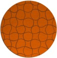 rug #400945 | round red-orange check rug