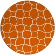 rug #400949 | round red-orange check rug