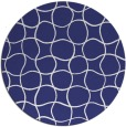 rug #400961 | round white check rug