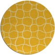 rug #400969 | round yellow check rug