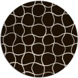 rug #400977 | round brown check rug