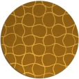 rug #400985 | round yellow check rug
