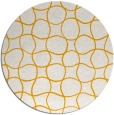 rug #401017 | round light-orange check rug