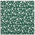 rug #401517 | square blue-green animal rug