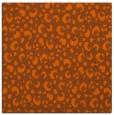 rug #401649 | square red-orange animal rug