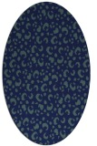 rug #401769 | oval blue animal rug