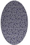rug #401825 | oval blue-violet animal rug