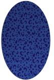 rug #401841 | oval blue-violet animal rug