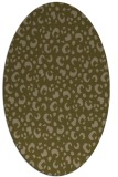 rug #401857 | oval brown rug