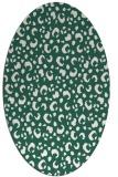 rug #401869   oval green animal rug