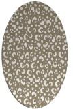 rug #401877 | oval white rug