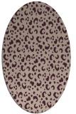 rug #401893   oval pink rug
