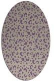 rug #401917 | oval purple rug